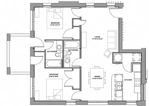 2 Bedroom - Style A