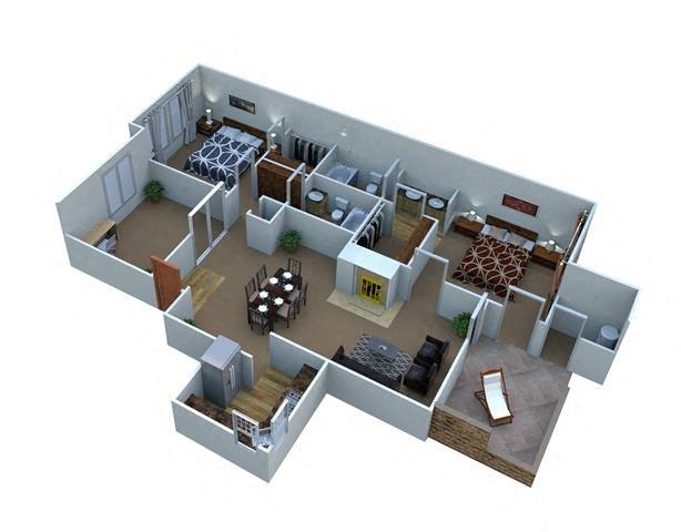 Plan B-5 Mesquite - Den Floor Plan 5