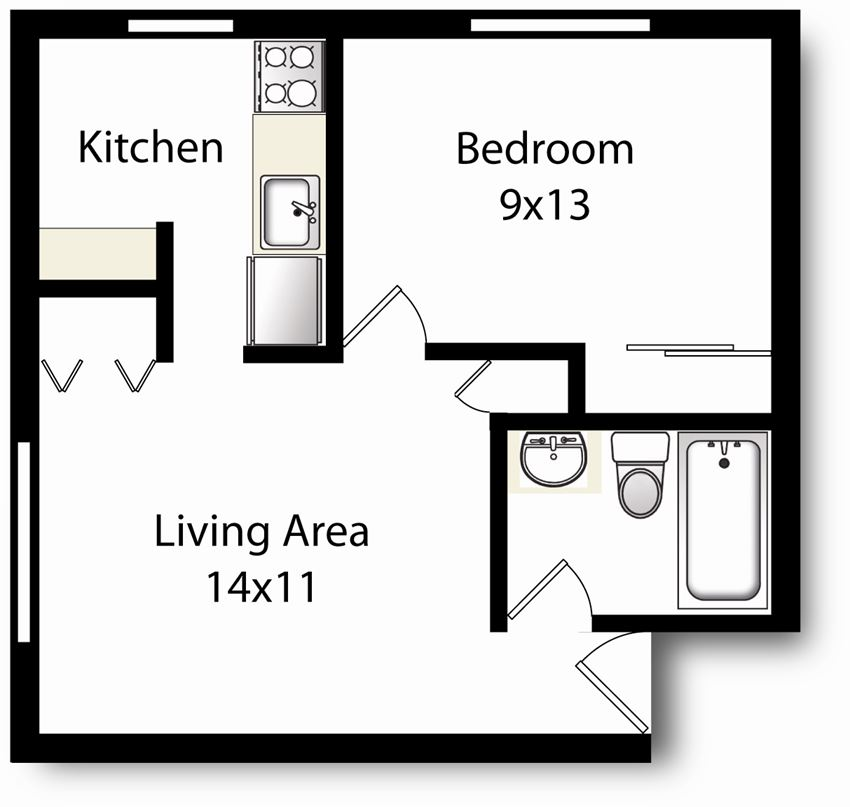 1 Bedroom-Upgraded