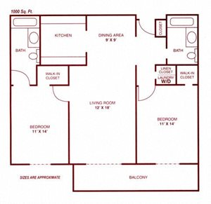 Two Bed Two Bath Kimball I
