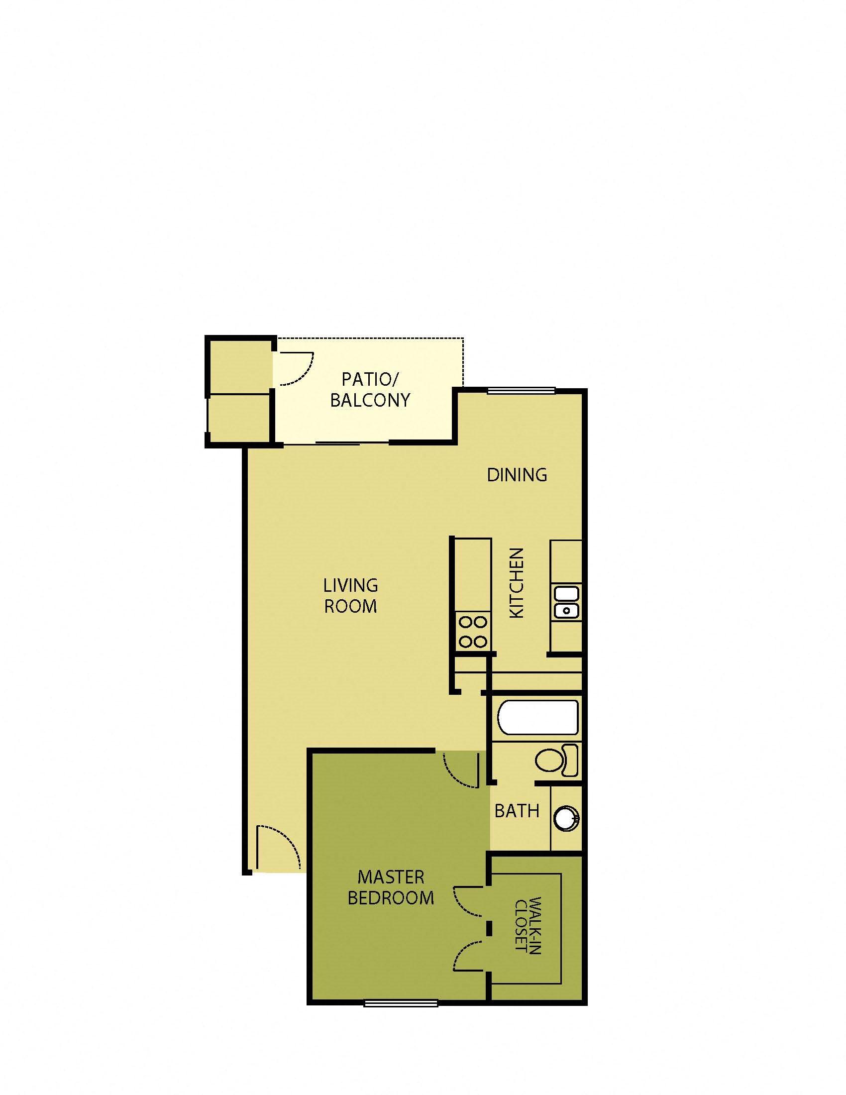 1x1 - 690 Floor Plan 3