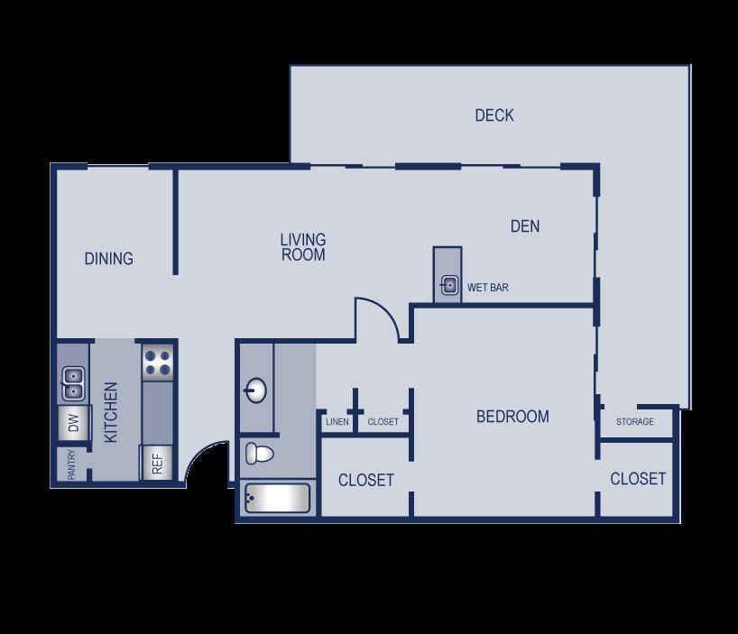 1x1 - 853 Floor Plan 6