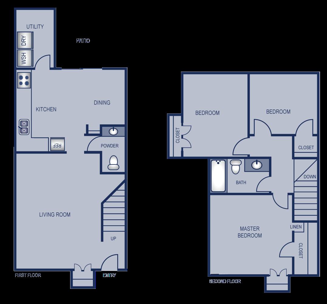3x1 - 1076 Floor Plan 14
