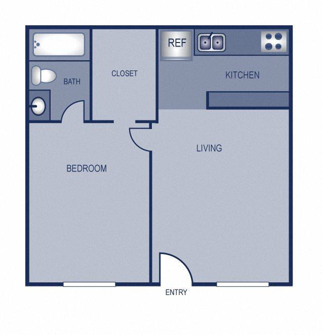 1x1 - 506 Floor Plan 1