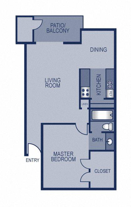 1x1 - 676 Floor Plan 2