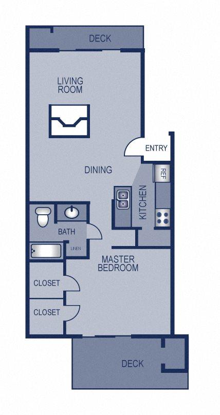 1x1 - 704 Floor Plan 4