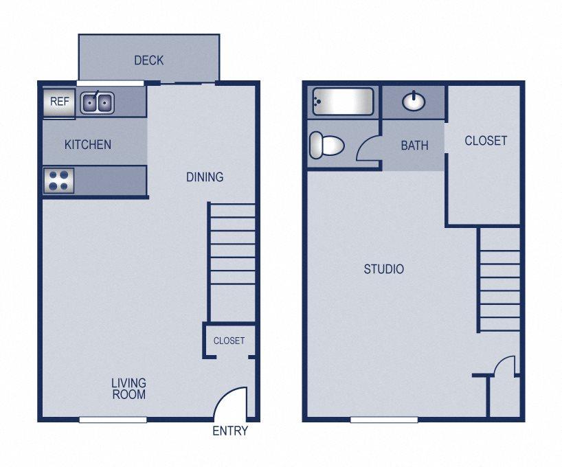 1x1 - 746 Floor Plan 5