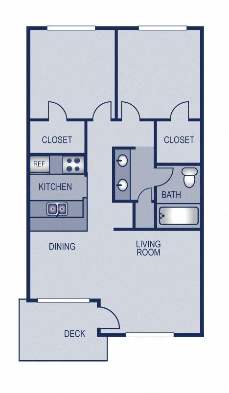2x1 - 689 Floor Plan 7