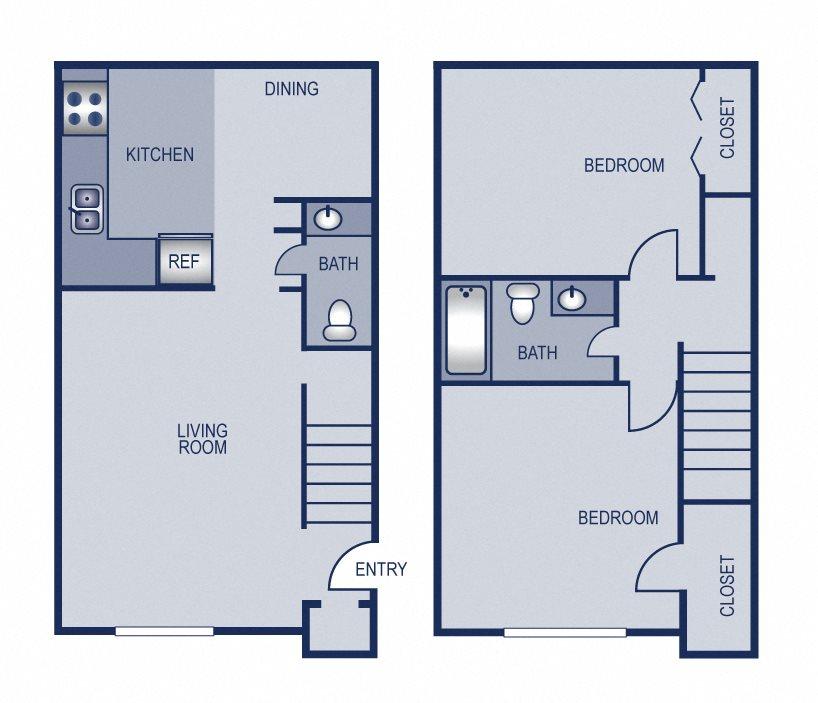 2x2 - 950 Floor Plan 9