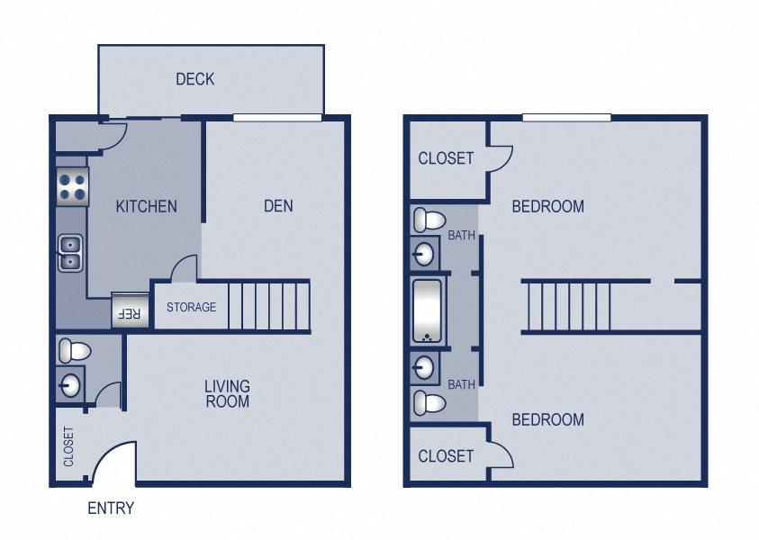 2x2 - 1200 Floor Plan 12