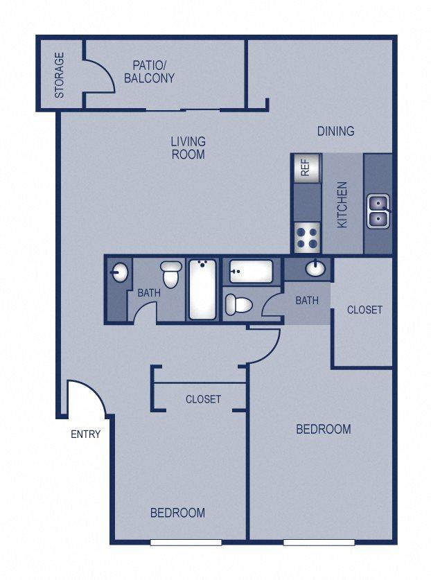 2x2 - 978 Floor Plan 11