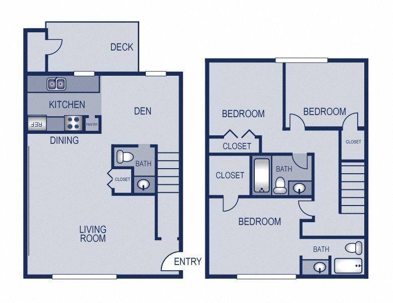 3x2.5 - 1312 Floor Plan 15