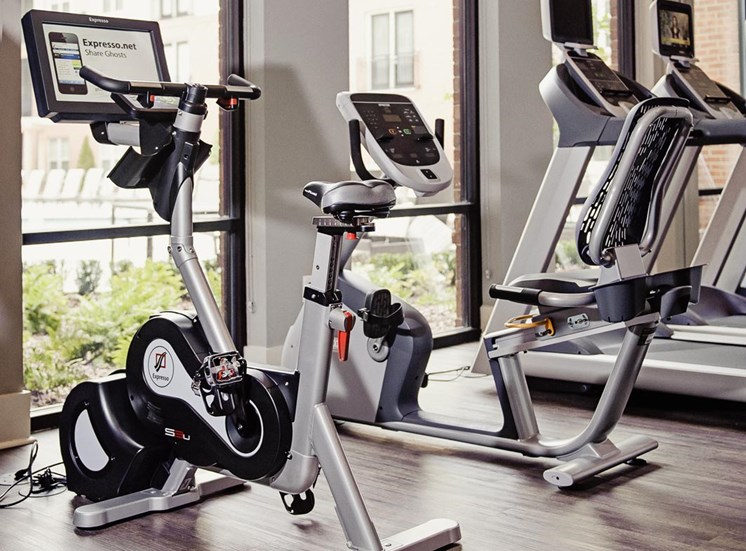 State-of-the-art exercise bikes at Riverwood, Atlanta, CA