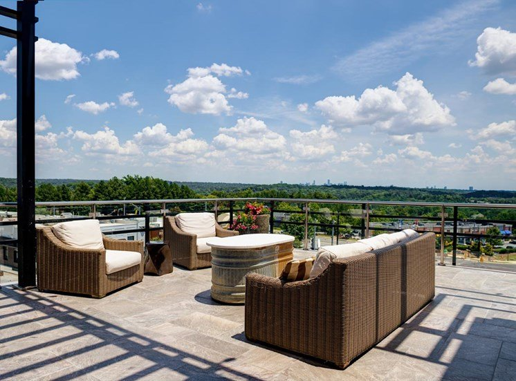 Skydeck lounge area at Riverwood, GA, 30339