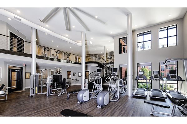 2-story fitness center at Riverwood apartments, GA 30339