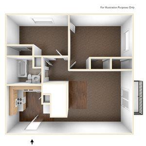 Two Bedroom Apartment Floor Plan Pine Grove Apartments