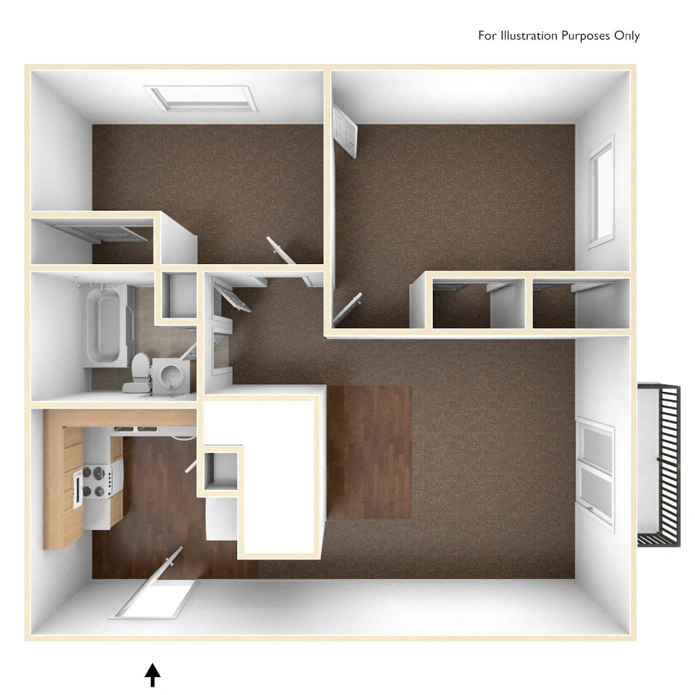 Two Bedroom Apartment Floor Plan Pine Grove Apartments