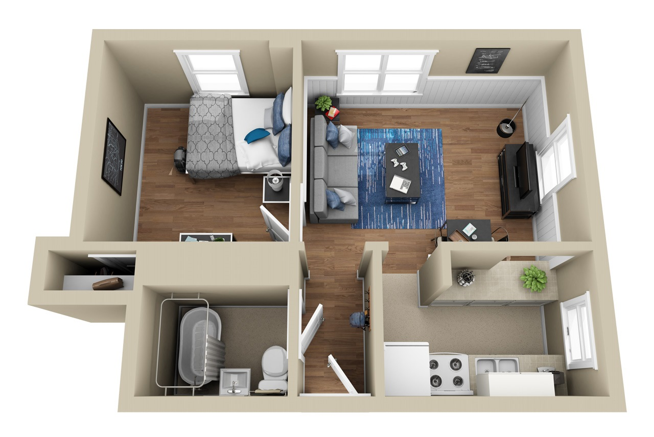 1 Bedroom Floor Plan Floor Plan 1