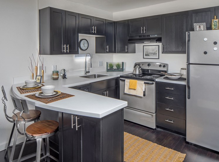 Apartments in Downtown Portland, OR - linc301 Kitchen with Modern Fixtures and New Cabinetry & Appliances