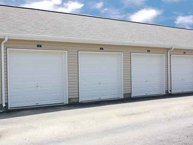 Garages and storage at Brookfield Village in Grove City, OH
