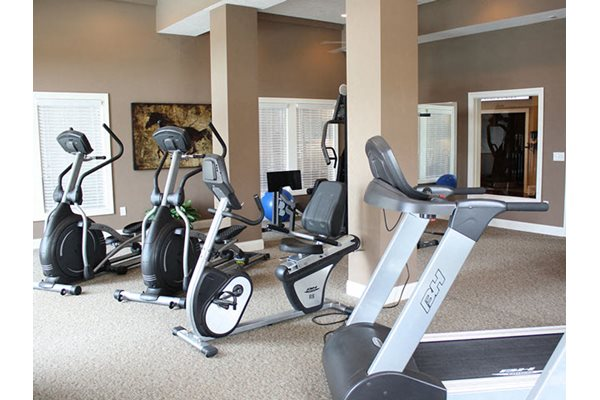 24-hour, resident fitness and health center on site, The Residences at Liberty Crossing Apartments in Columbus, Ohio