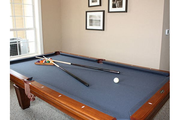 Resident Billiards Room in Clubhouse, The Residences at Liberty Crossing Apartments, Columbus, OH, 43235