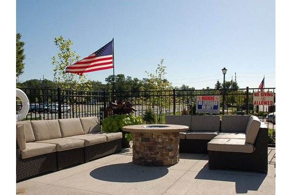 Gas Fire Pit and Seating Area, Liberty Crossing, Apartment Amenities, OH, 43235