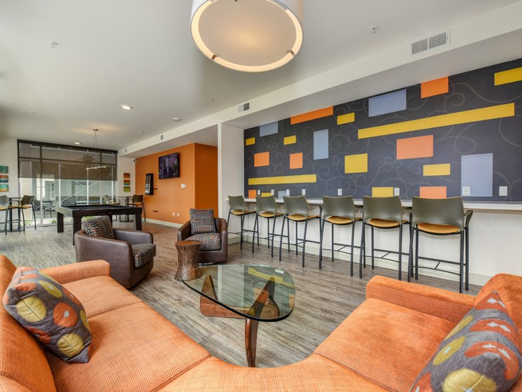 Luxury Apartment Community Clubhouse Lounge
