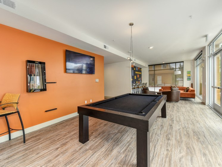Luxury Apartment Community Clubhouse Pool Table