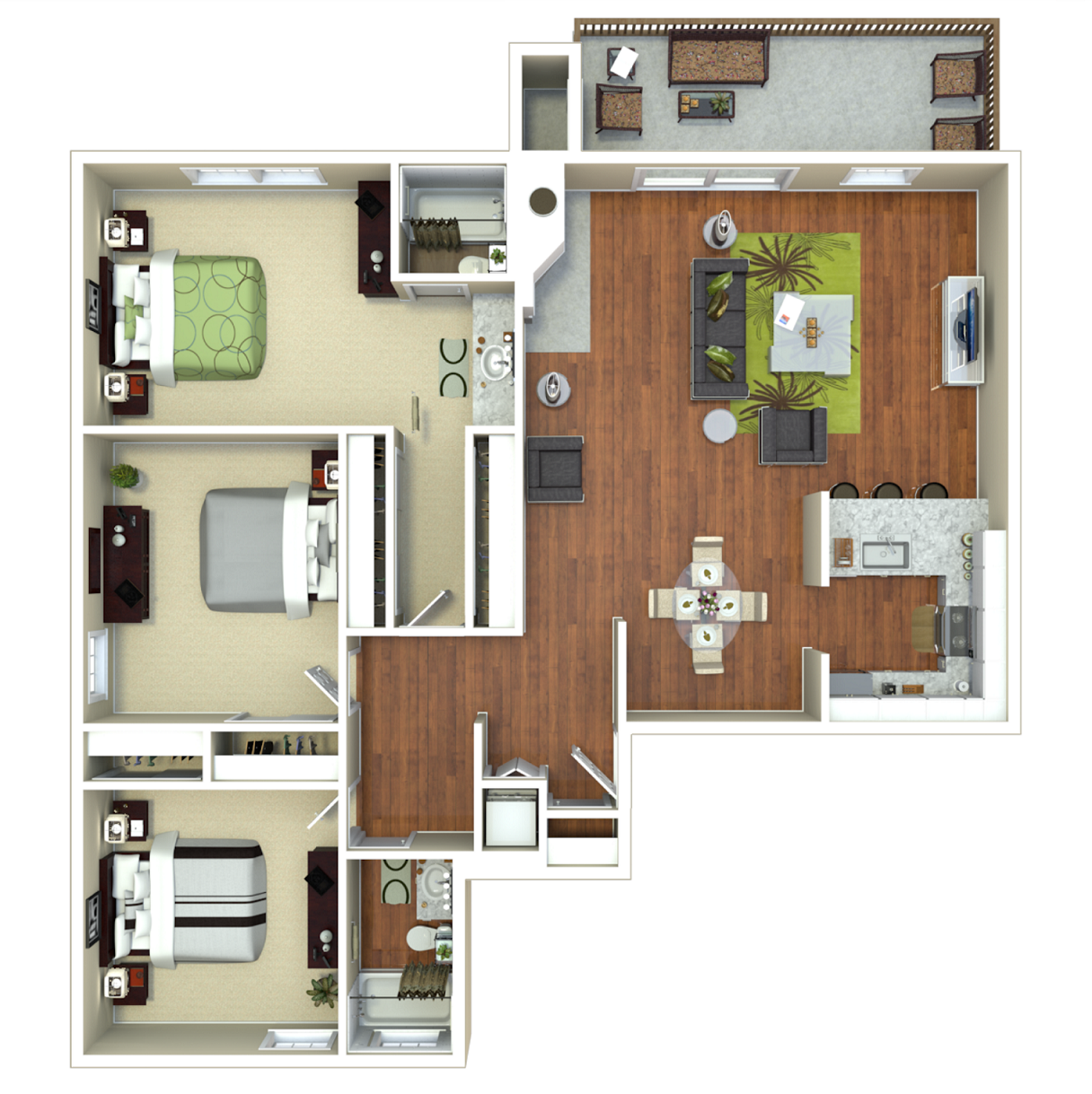 3 Bed 2 Bath (C) Floor Plan 11