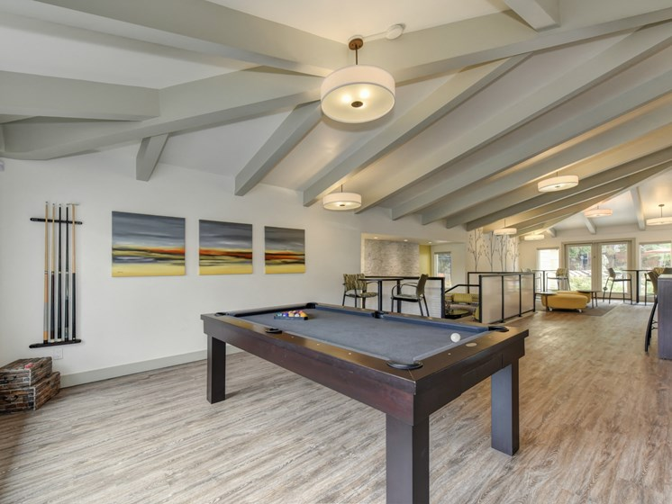 Luxury Apartment Community Clubhouse with Billiards