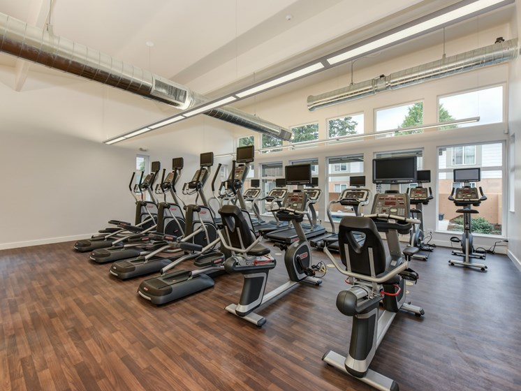 Luxury Apartment Community Fitness Center with Cardio Machines