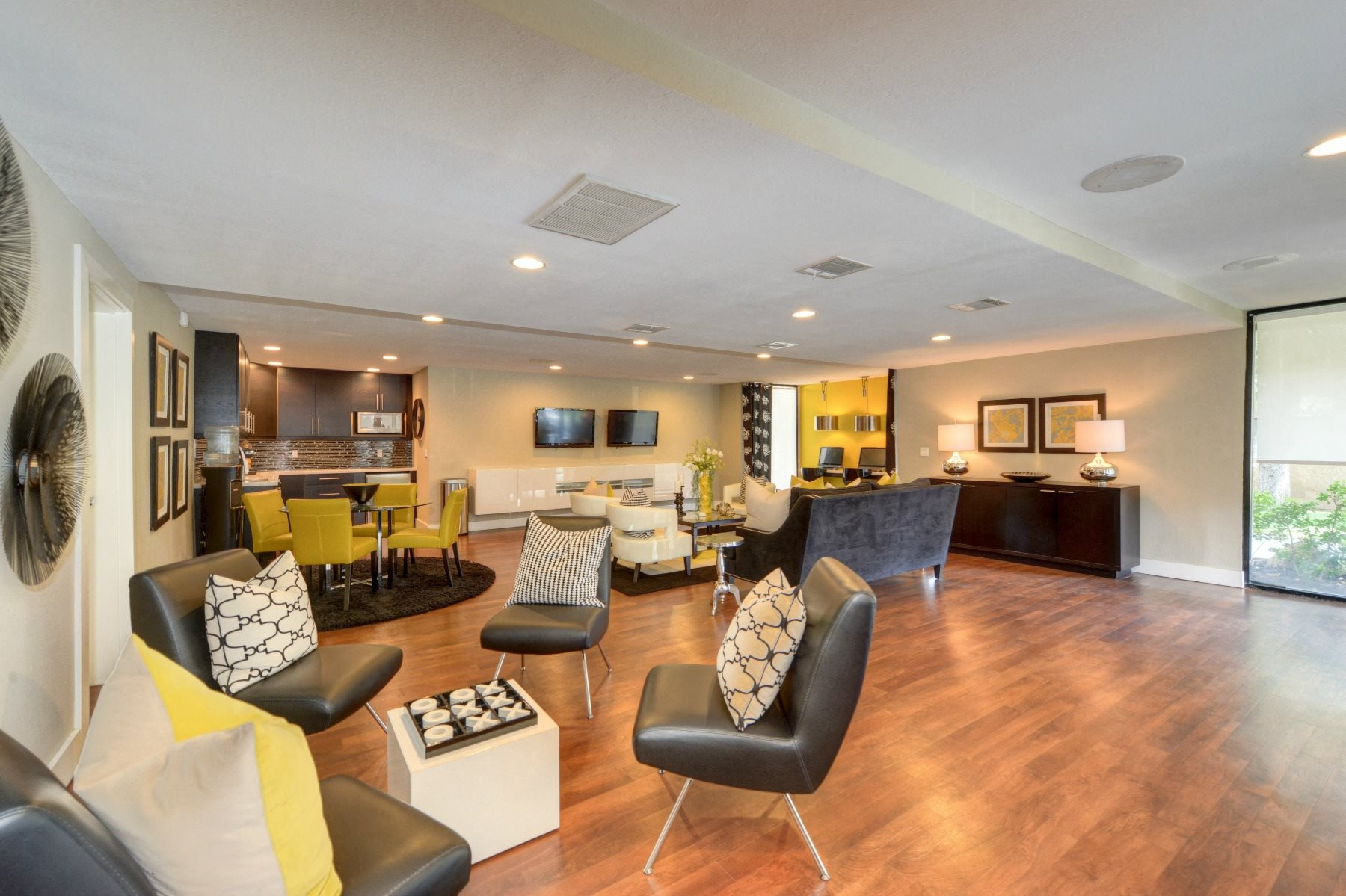 Luxury Apartment Community Clubhouse Lounge Area