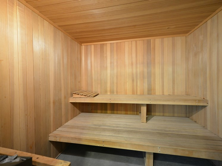 Luxury Apartment Community Sauna Steam Room