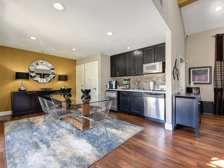 Luxury Apartment Community Leasing Office Kitchen Area