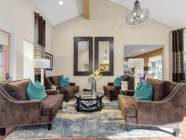 Luxury Apartment Community Leasing Office Sitting Area