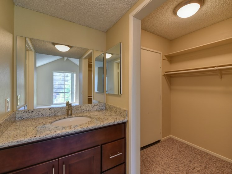 Luxury Apartment Community Bathroom and Walk In Closet