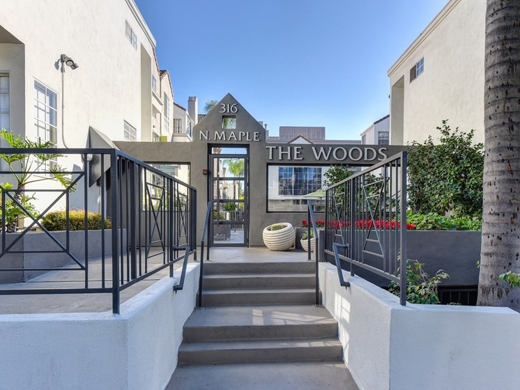 Luxury Apartment Community Entrance