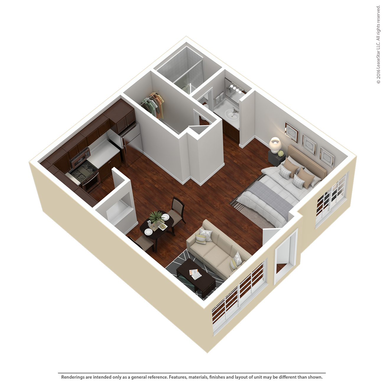 Studio Plan A Floor Plan 3