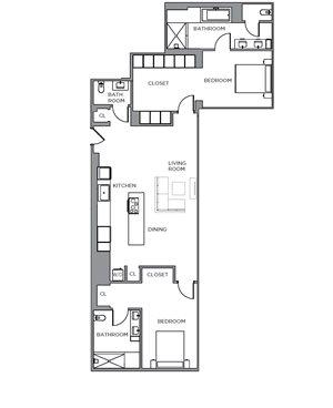 Washington Two Bedroom Penthouse A
