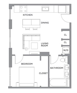 Madison One Bedroom A