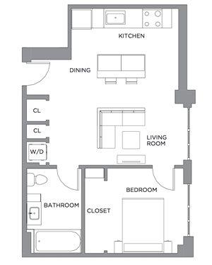 Madison One Bedroom C
