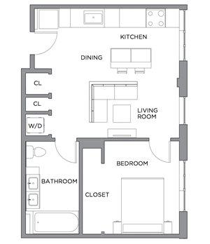 Madison One Bedroom E