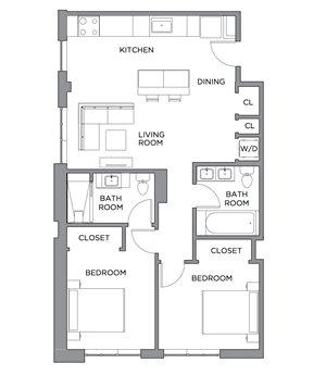 Madison Two Bedroom
