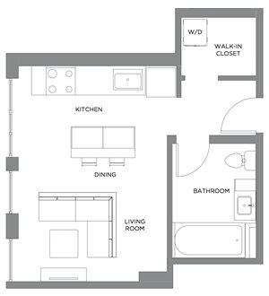 Madison Studio Penthouse A