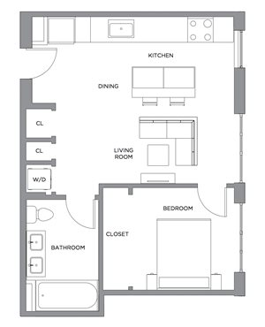 Madison One Bedroom Penthouse A