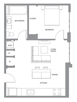 Madison One Bedroom Penthouse B