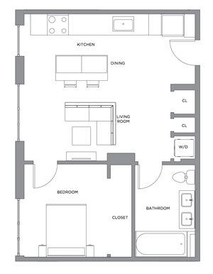 Madison One Bedroom Penthouse C