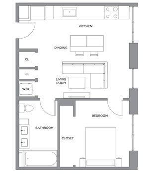 Madison One Bedroom Penthouse F