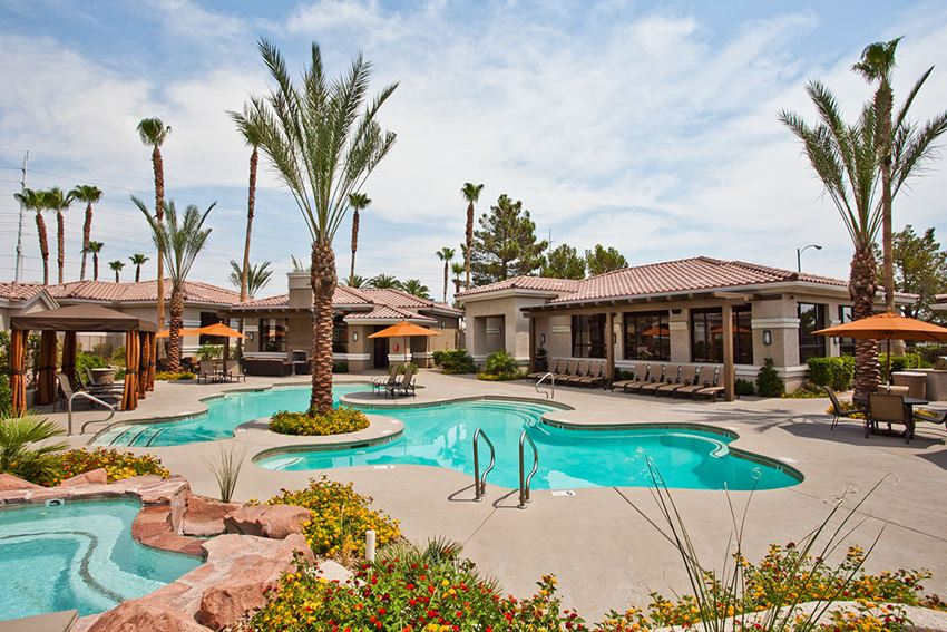 Apartments on Sahara and Durango with Two Crystal Clear Swimming Pools